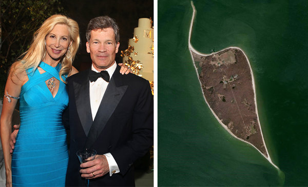 Louis Moore Bacon, shown with his wife, Gabrielle, is the founder of a highly successful hedge fund and a leading contributor to Jeb Bush's super PAC. Among his homes is one on Robins Island, off Long Island.